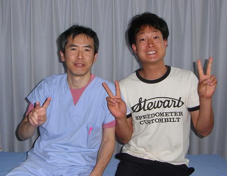 患者様(K様)とツーショット撮りました。 芝下(しばした)鍼灸整骨院