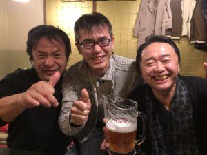 訃幻流らせんの旭川の昇仙堂の米澤浩先生と氣功師の加藤公一先生と記念撮影