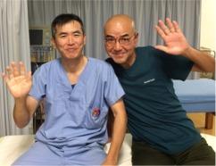 患者様(H様)とツーショット撮りました。 芝下(しばした)鍼灸整骨院